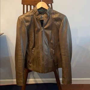 Marc New York Andrew Marc brown leather jacket